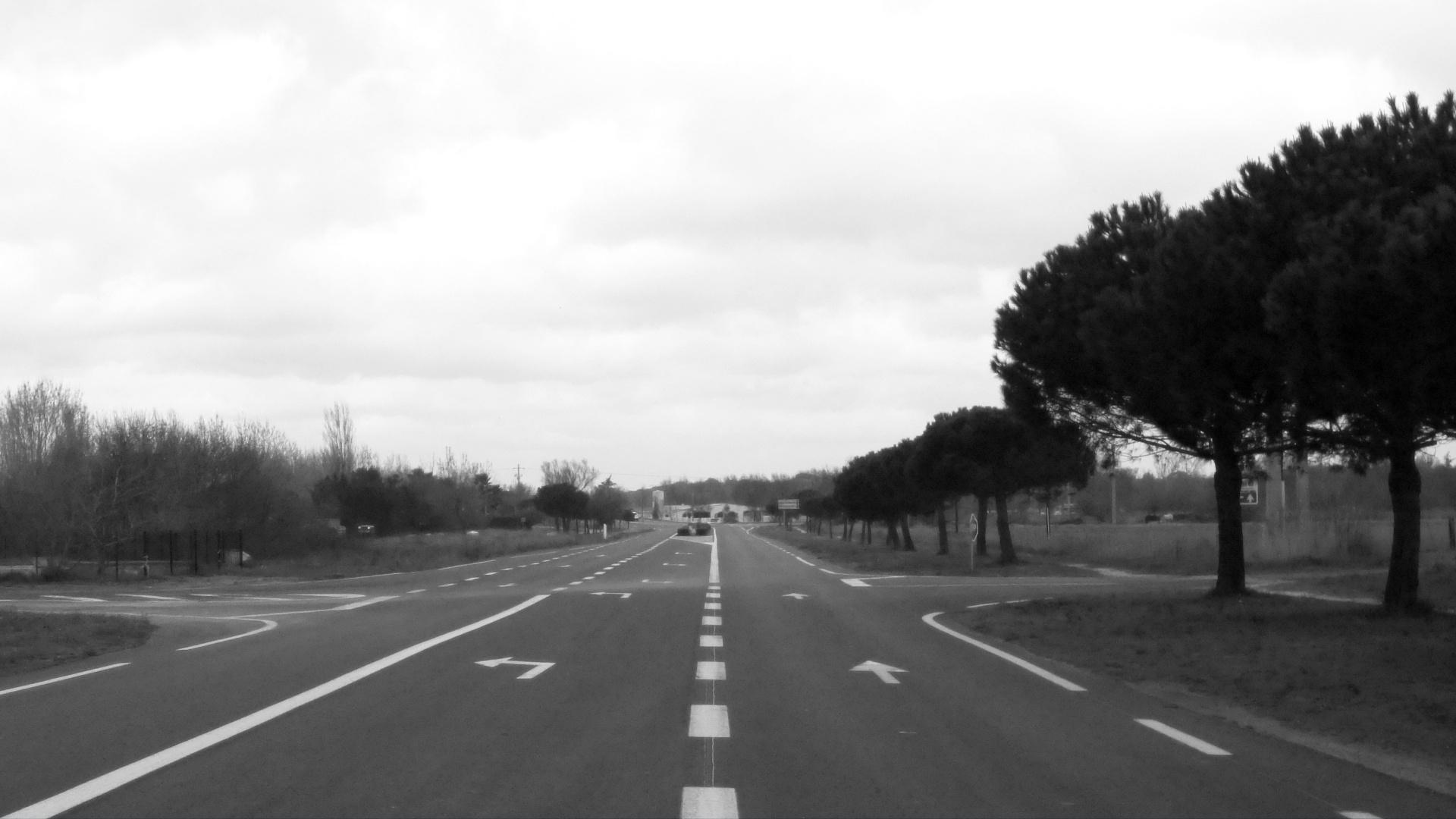 Fondo gris carretera sin coches