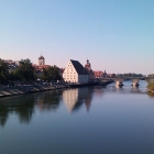 "Regensburg's old town, viewn from the ""Eiserne Brücke"""