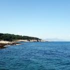 Green land, blue sea