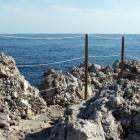 Rails on rocks