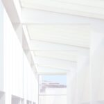 White MACBA ceiling structure