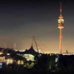 Television tower and Schwimmhalle