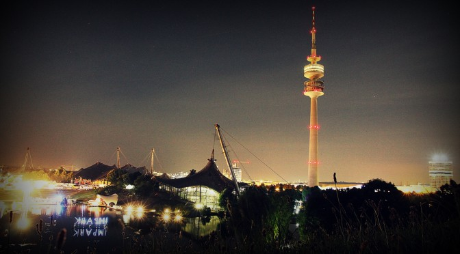 Olympiapark by night wallpapers